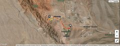 Rock Climbing Photo: This is a satellite image of the hike from (play b...