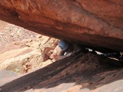 Rock Climbing Photo: Kat emerges from under the crux roof on P3 of The ...
