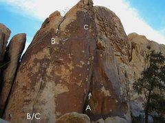 Rock Climbing Photo: Swiss Cheese Wall, Left Side  A. What's Hannen 5.1...
