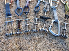Rock Climbing Photo: Here's the rack I used. Left to right: bottom to t...