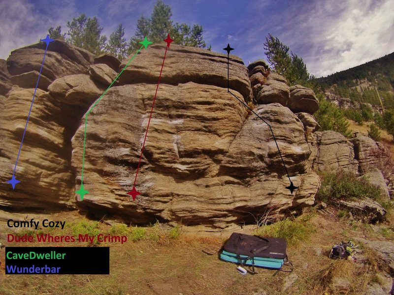 The rock is still a bit gritty. All routes are uber fun though!