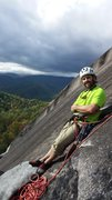 Rock Climbing Photo: Paul Sullivan leading Block Route on Oct. 15, 2014...