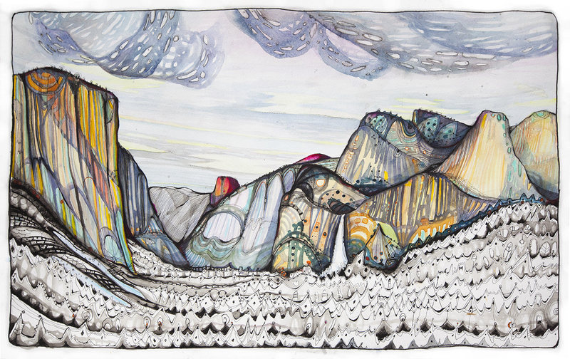 "Rock Climbing Photo: ""The Valley Saffron"" - 22"" x 14&quo..."