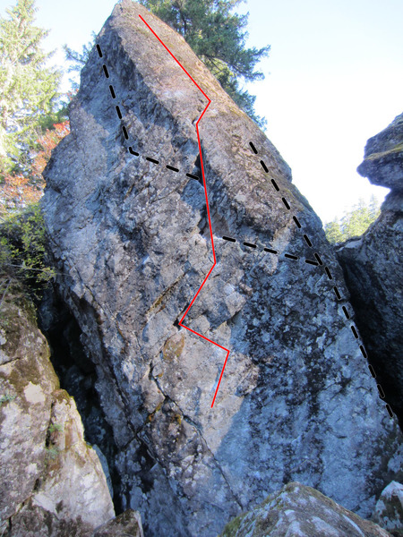 Rock Climbing Photo: The Phoenix - Black lines are for those that want ...