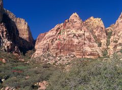 Rock Climbing Photo: Looking at Geronimo from the East (outside of the ...