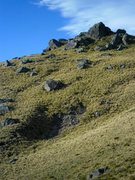 Rock Climbing Photo: Bit closer look at the summit; for reference, the ...