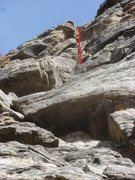 Rock Climbing Photo: Red line is the climb.