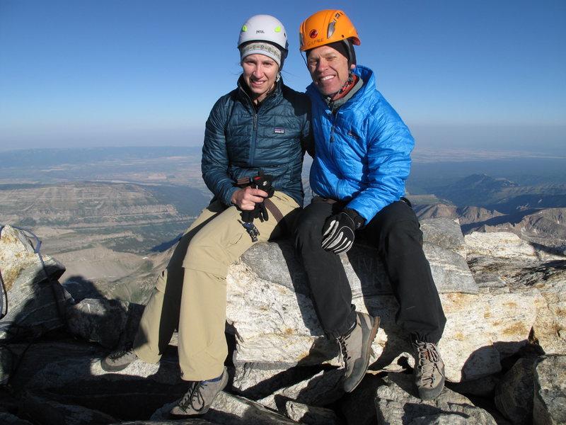 on top of Grand Teton