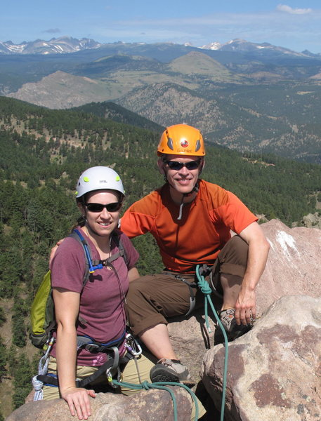 Rock Climbing Photo: on the First Flatiron