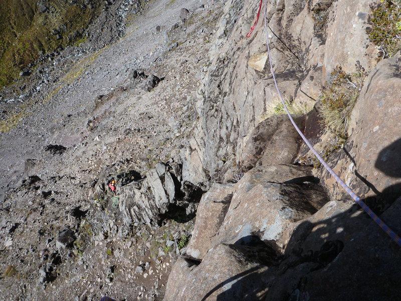 Rock Climbing Photo: Start up the pillar