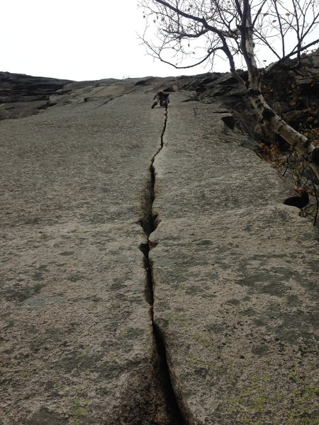 From the base of Reppy's Crack