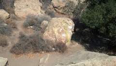 Rock Climbing Photo: View of Slap from Spiral Boulder