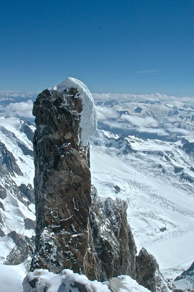 looking at the summit of the Tooth