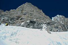 Rock Climbing Photo: where we crossed the upper schrund