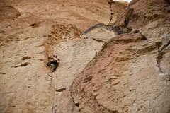 Rock Climbing Photo: In the insecure dihedral of Culture of Fear