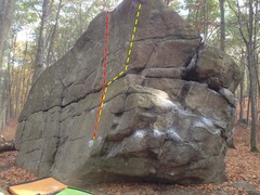 Rock Climbing Photo: Bottle of Rum (yellow) Old Ironsides (red)