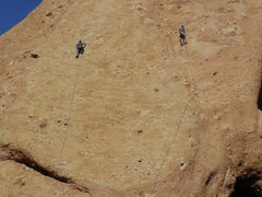 """Rock Climbing Photo: A prime example of """"parallel play"""" on th..."""