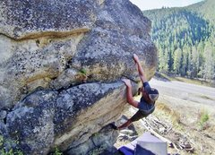 Rock Climbing Photo: Ian pulling up on the crux!