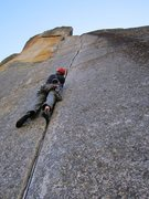 Rock Climbing Photo: Looking up from start of pitch 3