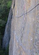 Rock Climbing Photo: The traverse at end of pitch 2