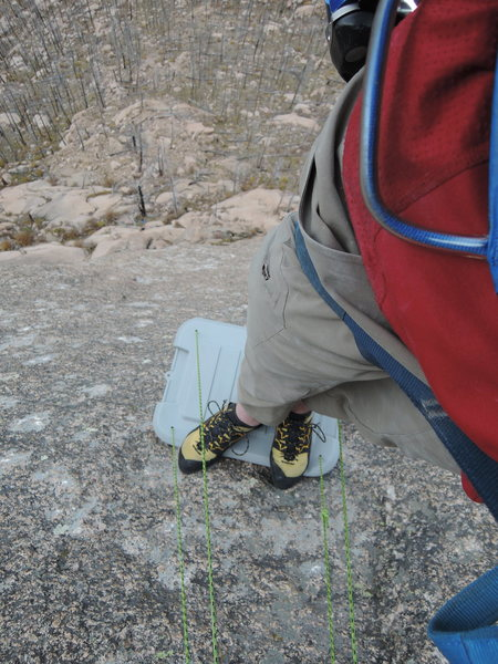 Rock Climbing Photo: The action packer lid/ portable mini-ledge!