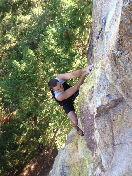 Rock Climbing Photo: Near the top of Shadow Caster.