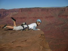 Rock Climbing Photo: Yeah, it's a long way down from there...