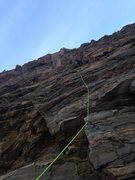 Rock Climbing Photo: It is a long way up there.  This shot give you mos...