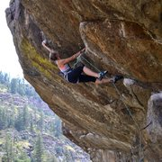 Rock Climbing Photo: Dyno to the jug! Officer Friendly, 5.11c