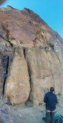 Rock Climbing Photo: Nora on Phantasmagoria.  Tim Belaying.