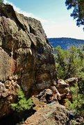Rock Climbing Photo: Side shot of Dour Dossier.