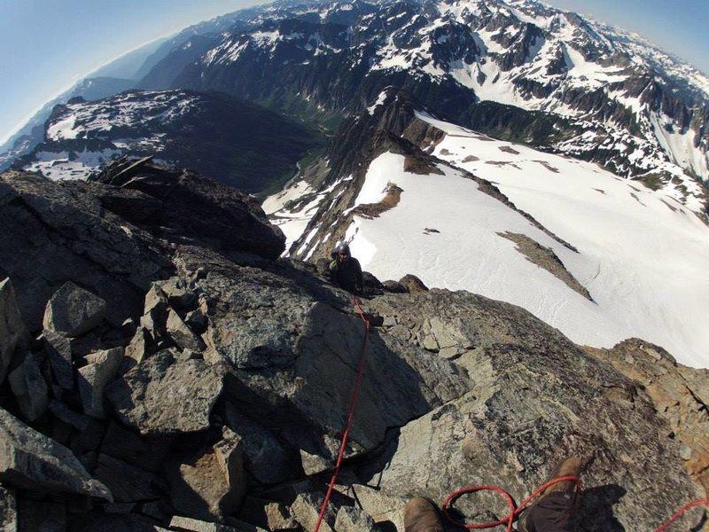 Rock Climbing Photo: Last pitch on Sahale