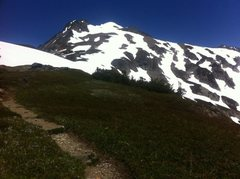 Rock Climbing Photo: A shot of the peak from the trail about 1 mile fro...