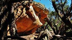 Rock Climbing Photo: Greenseer's south-facing overhang.