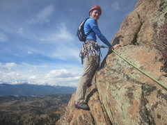 Rock Climbing Photo: First real exposed traverse.