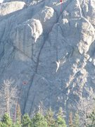 Rock Climbing Photo: The upper pitch and a half.