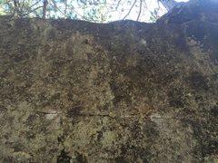Rock Climbing Photo: Row of small crimps near the top.