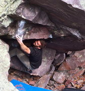 Rock Climbing Photo: The Coleman with his try-hard face on!