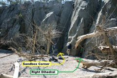 Rock Climbing Photo: The sandbox area is the accessed by following the ...