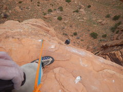 Rock Climbing Photo: looking down from the top of Lonely Vigil, near Mo...