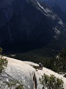 Rock Climbing Photo: Mark Collar following P3 (per supertopo, our P2) o...