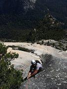 Rock Climbing Photo: Mark Collar following the beautiful corner of P5 (...