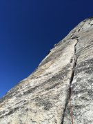 Rock Climbing Photo: Mark Collar leading P4 (per ST, our P3)