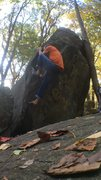 Rock Climbing Photo: Making some funky moves!
