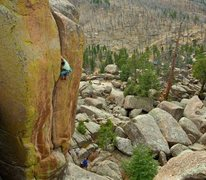 Rock Climbing Photo: Climber: Jason Antin. Belayer: Trask Bradbury. Pho...