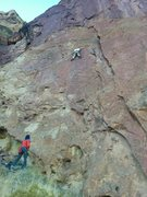 Rock Climbing Photo: First pitch of Gulag Archipeligo.    Josh on Route...