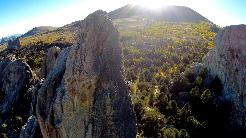 Seriously, is there any better single pitch climb than Skyline?<br> <br> Drone shot - Oct 2014