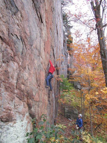 Rock Climbing Photo: Lower section of Release the Kraken