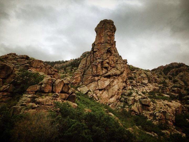 West face of Window Rock.  Cripple Creek, Colorado.