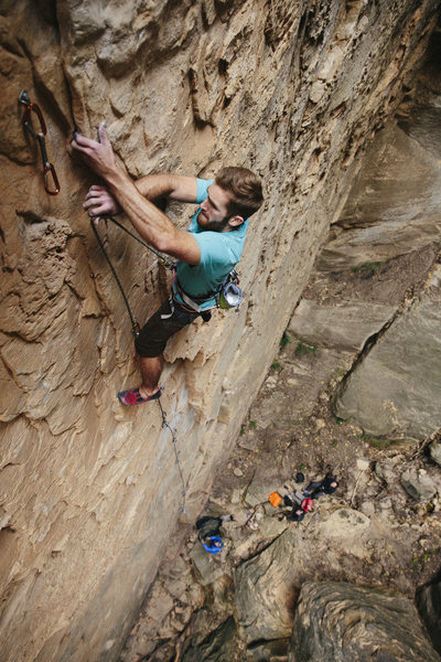 Rock Climbing Photo: This was the crux for me. I recommend going one mo...